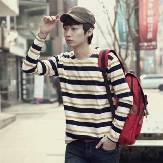 Round-neck Stripe T-shirt