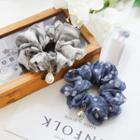 Rhinestone Droplet Fabric Hair Tie