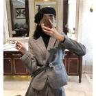 Plaid Blazer / Mini Pleated Skirt