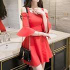 Plain Cutout A-line Dress