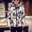 Print Hood Padded Jacket