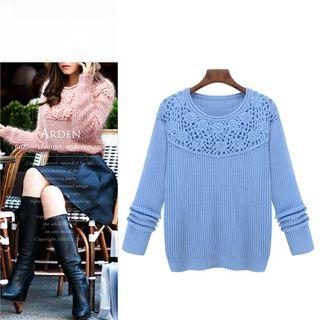 Crochet Yoke Sweater