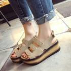 Espadrilles Platform Velcro Sandals