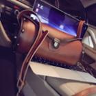 Faux-leather Cylinder Shoulder Bag