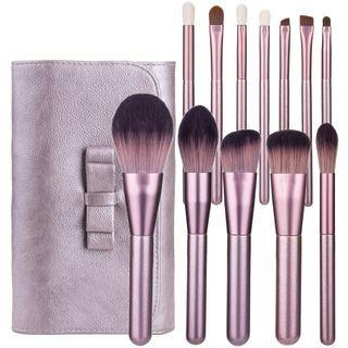 Set Of 12: Makeup Brush Set Of 12 - Pink - One Size