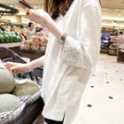 Sequin 3/4-sleeve T-shirt