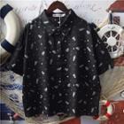 Short-sleeve Bear Print Shirt