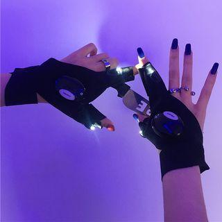 Fluorescent Half Gloves