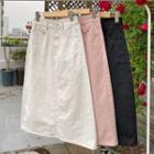 Cotton Midi A-line Skirt
