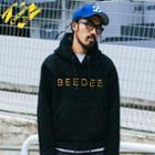 Embroidered Hooded Fleece Pullover