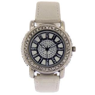 Crystal Wrist Watch White & Silver - One Size