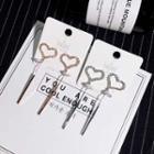 Rhinestone Sweetheart Drop Earrings