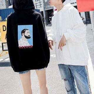 Couple Matching Hooded Printed Pullover