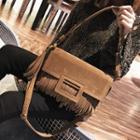 Faux Leather Fringe Shoulder Bag