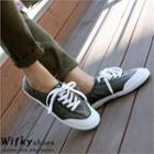 Toe-cap Faux-leather Sneakers