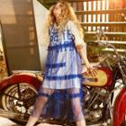 Sleeveless Sheer Mesh Dress