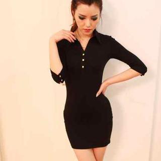 3/4-sleeve Polo Dress