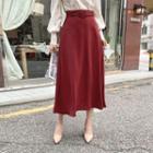 A-line Maxi Skirt With Belt