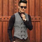 Tweed Double-breasted Vest
