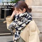 Patterned Fringed Scarf As Shown In Figure - One Size