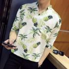Pineapple Elbow-sleeve Shirt