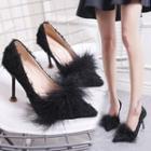 Faux Fur High-heel Pumps