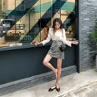 Leopard A-line Miniskirt