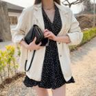 Drawcord-waist Linen Blend Blazer