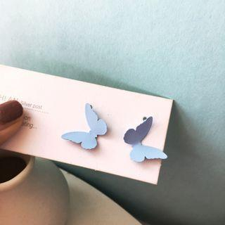 Alloy Butterfly Earring 1 Pair - S925 - Butterfly - One Size