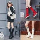 Knit Panel Tall Boots