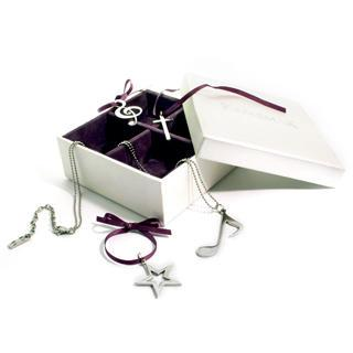 Santas Fantasy Box Pendant Set (cross, Star, Quaver & Treble Cleft)