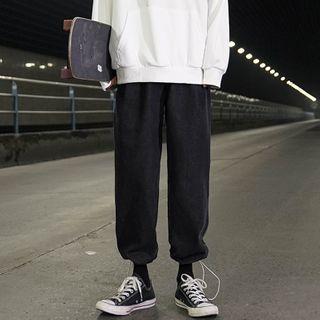 Elastic-waist Jogger Jeans