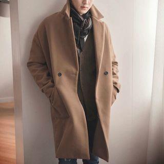 Woolen Coat Camel - M