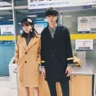 Couple Matching Button Coat