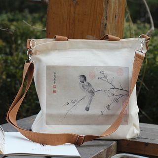 Bird Double Canvas Shoulder Bag