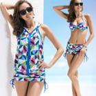 Geometric Print Bikini Set