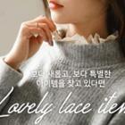 Lace-trim Oversized Sweater