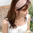 Irregular-disc Dangle Earrings Pink - One Size