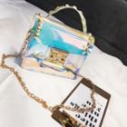 Studded Iridescent Crossbody Bag