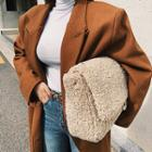 Chain-strap Fleece Shoulder Bag