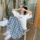 Pattern Sleeveless Dress As Figure - One Size