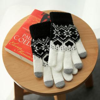Pattern Knit Gloves