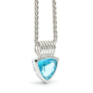 Blue Topaz Breakthough Pendant