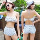 High-waist Floral Bikini