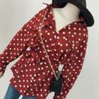 Polka Dot Shirt With Sash