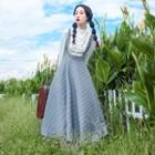 Embroidered Blouse / Suspender Maxi Dress