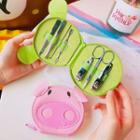 Manicure Set With Frog / Pig Pouch