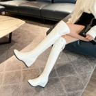 Hidden-wedge Over The Knee Boots