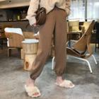 Gathered Cuff Cropped Pants