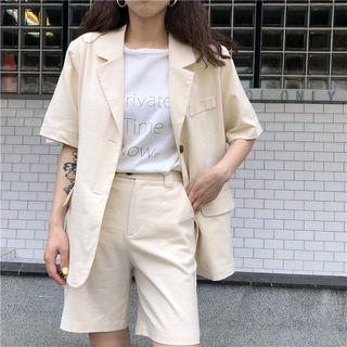 Short Sleeves Blazer / Shorts